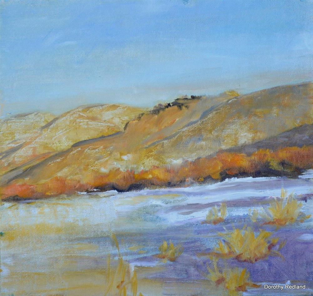 """""""winter under Sheep Mountain"""" original fine art by Dorothy Redland"""