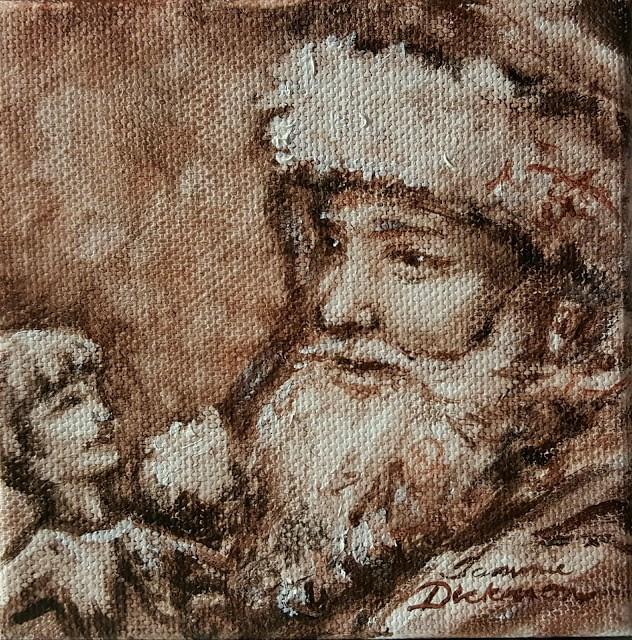 """Santa and Dolly"" original fine art by Tammie Dickerson"