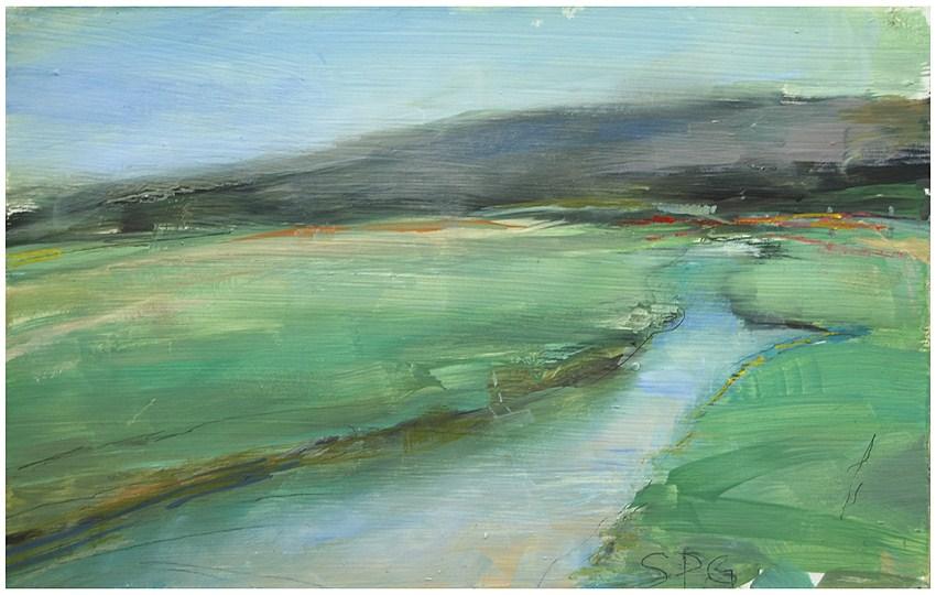 """Martha's Vineyard marsh study"" original fine art by Steven Goodman"