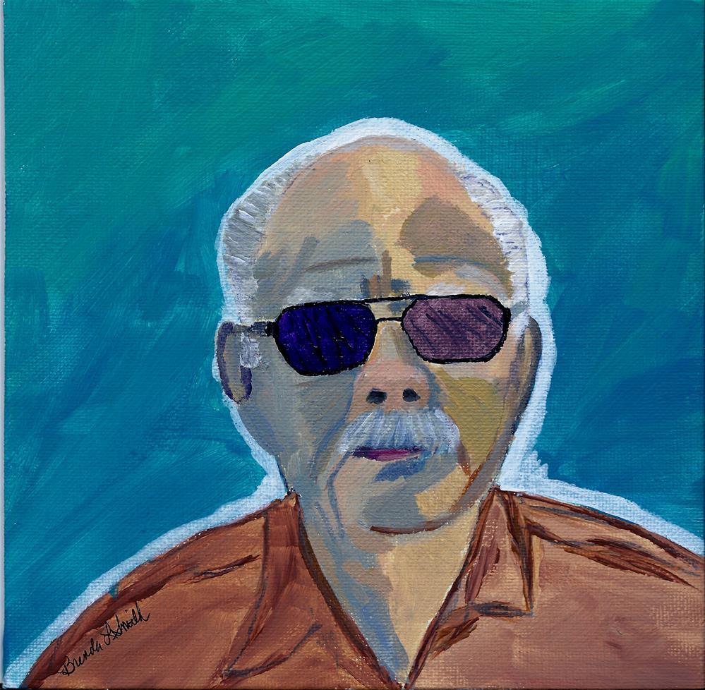 """""""Jim in the Sun!"""" original fine art by Brenda Smith"""