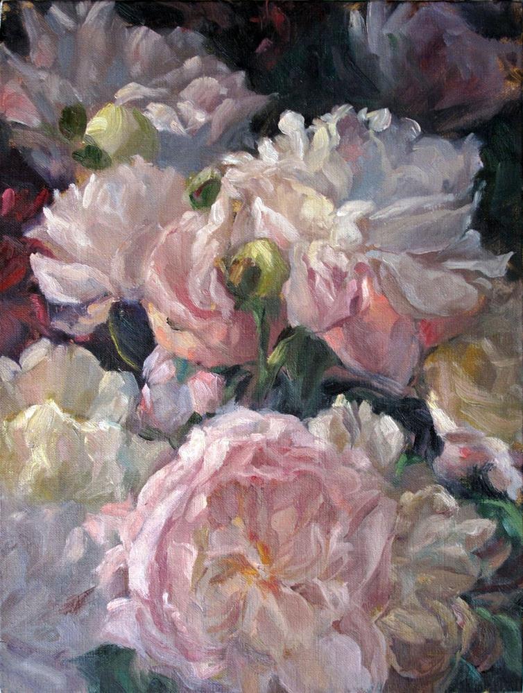 """""""Peonies - Chorale"""" original fine art by Myriam Kin-Yee"""