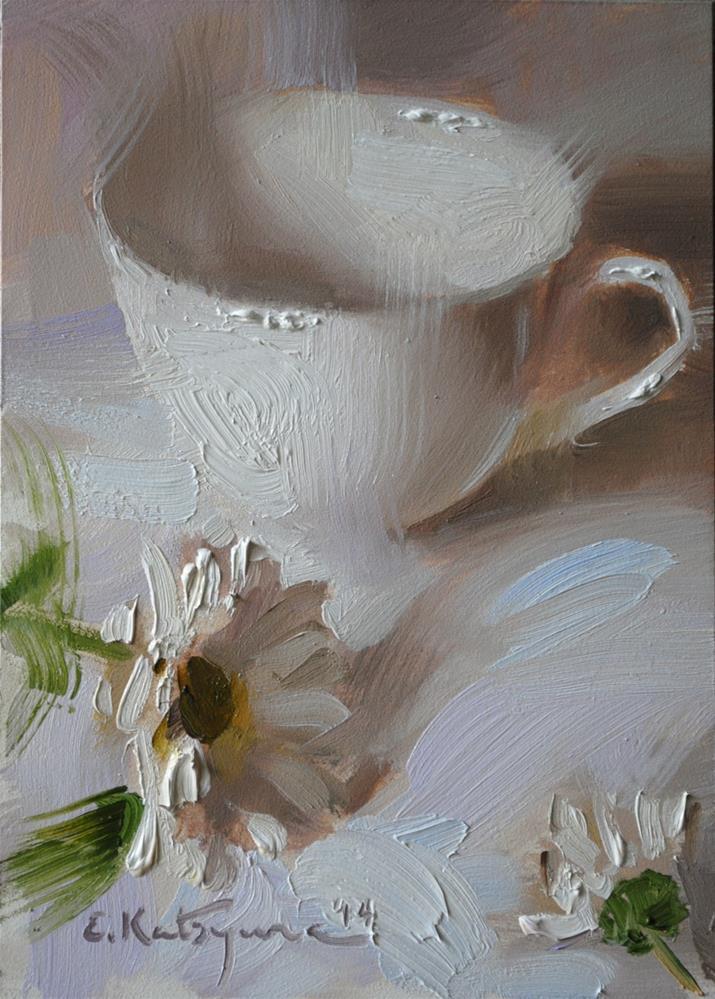 """Cup on White"" original fine art by Elena Katsyura"