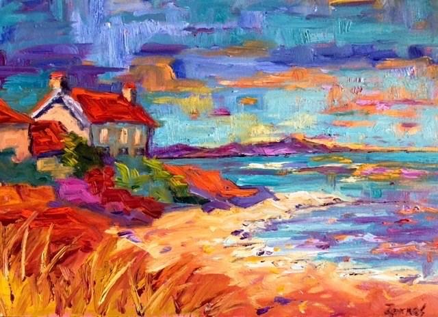"""""""Scottish Sky"""" original fine art by Liz Zornes"""
