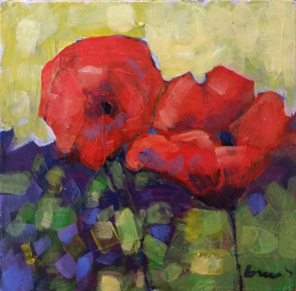 """poppies"" original fine art by salvatore greco"