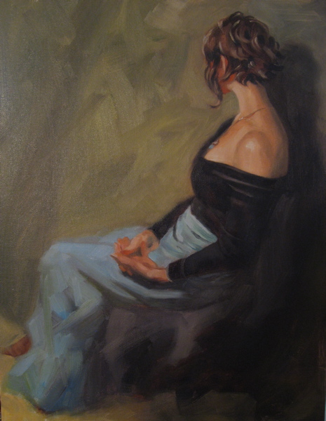 """Day three,  Zhaoming Wu Workshop 14 x 18  oil"" original fine art by Claudia Hammer"