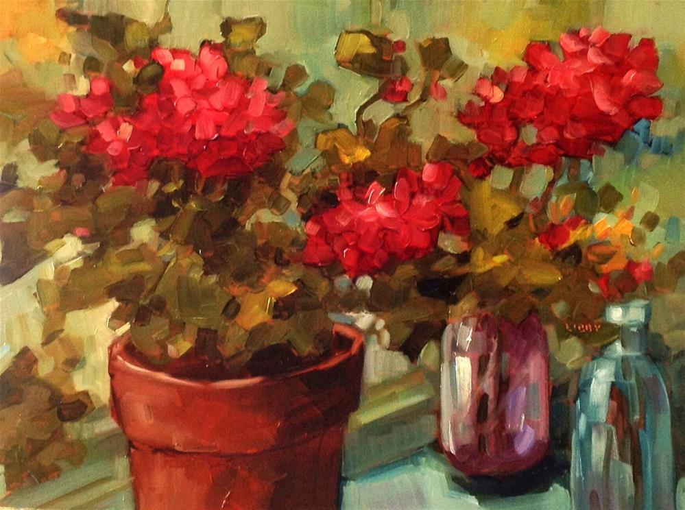 """""""Summer Afternoon"""" original fine art by Libby Anderson"""