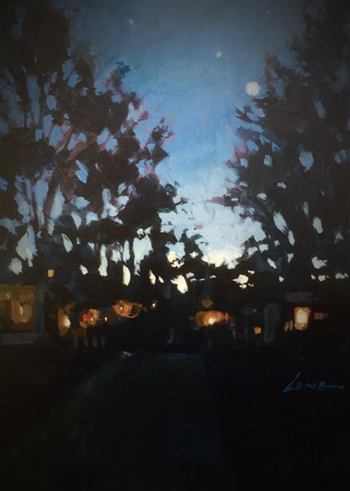 """Campground"" original fine art by Chris Long"
