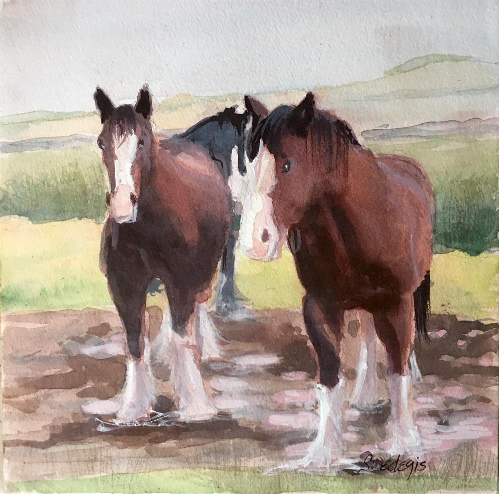 """Gentle Giants"" original fine art by Sheila Wedegis"
