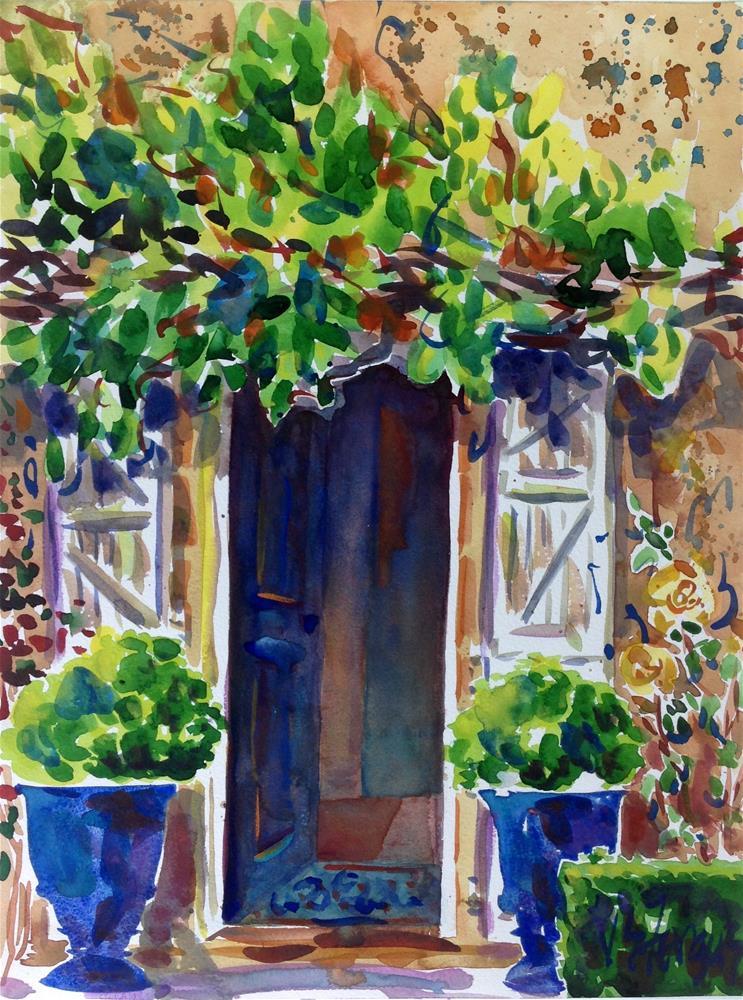 """Sheltered Interior"" original fine art by Virginia Fergus"