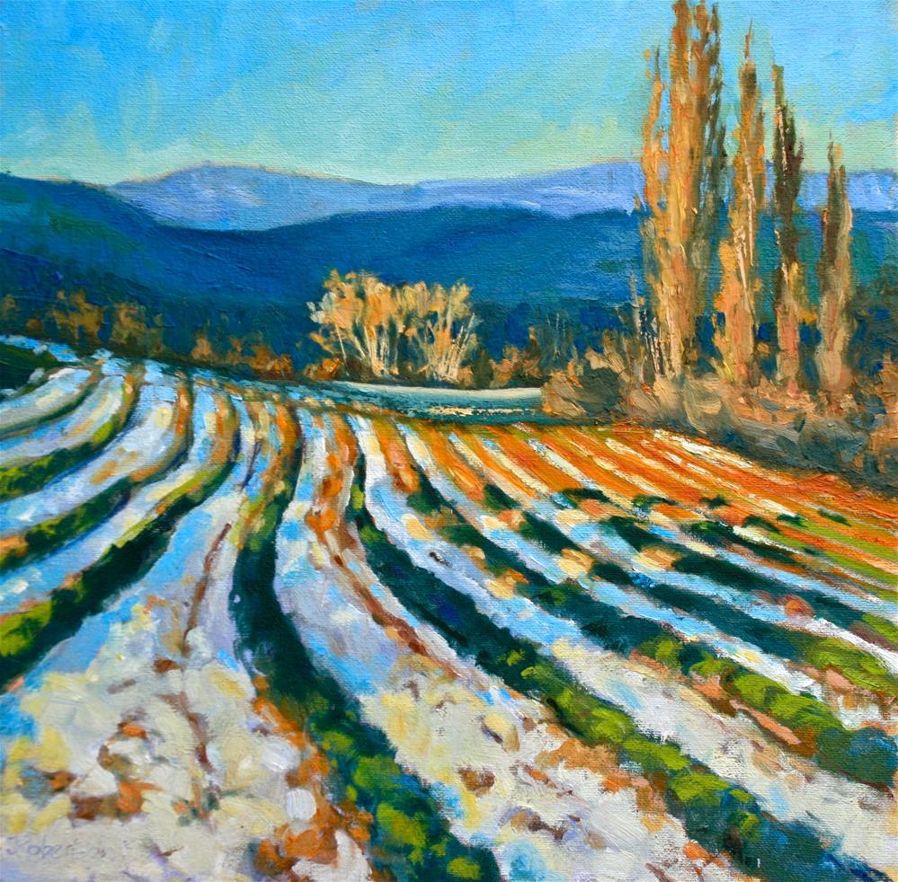 """Winter Lavender"" original fine art by Jane Robertson"