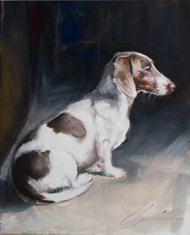 """""""Squirrel Watch"""" original fine art by Clair Hartmann"""