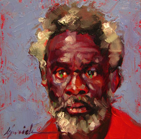 """100 Faces, No. 54"" original fine art by Karin Jurick"