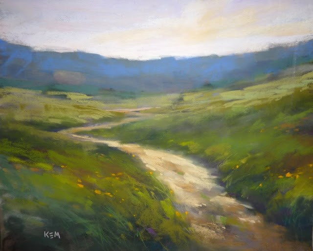 """Two Keys to Help You Create the Illusion of Depth in a Landscape"" original fine art by Karen Margulis"