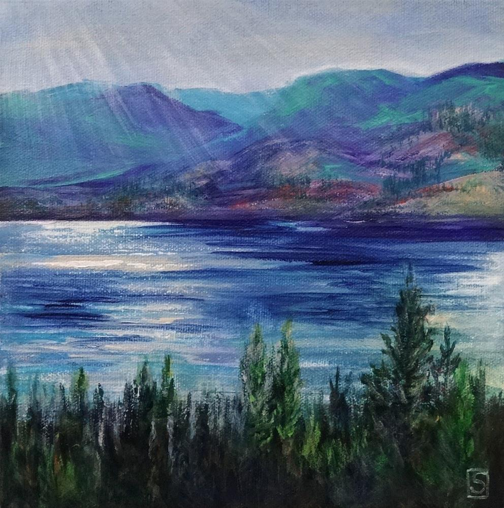 """5099 - Across the Lake II"" original fine art by Sea Dean"