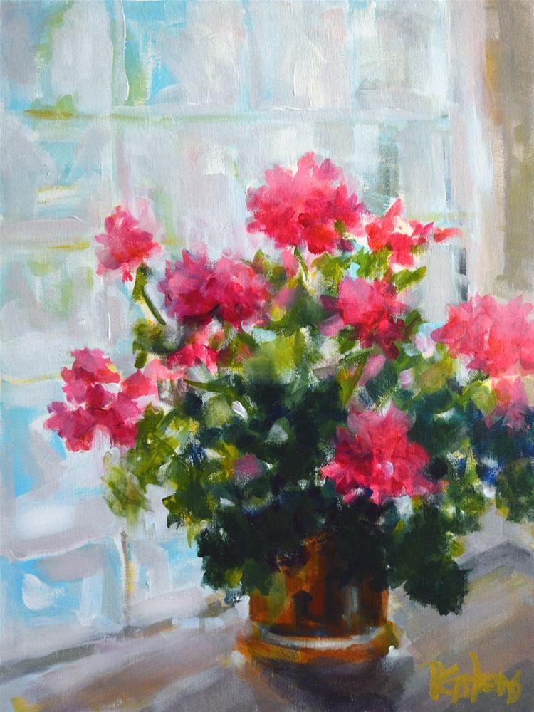 """Geranium Light"" original fine art by Pamela Gatens"