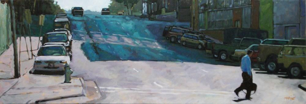"""Blue Monday"" original fine art by Carol Marine"