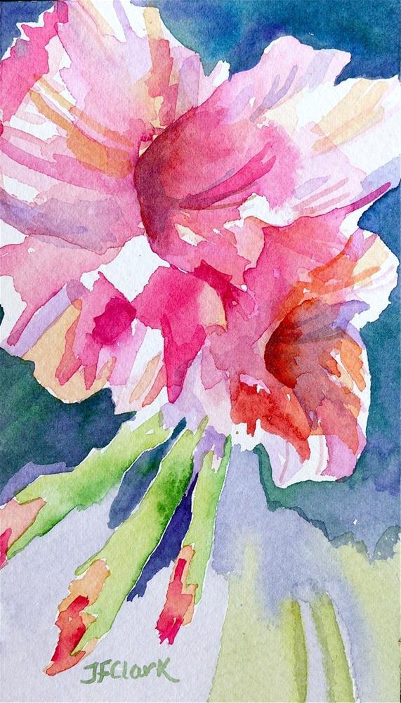 """Tiny Flower #4"" original fine art by Judith Freeman Clark"
