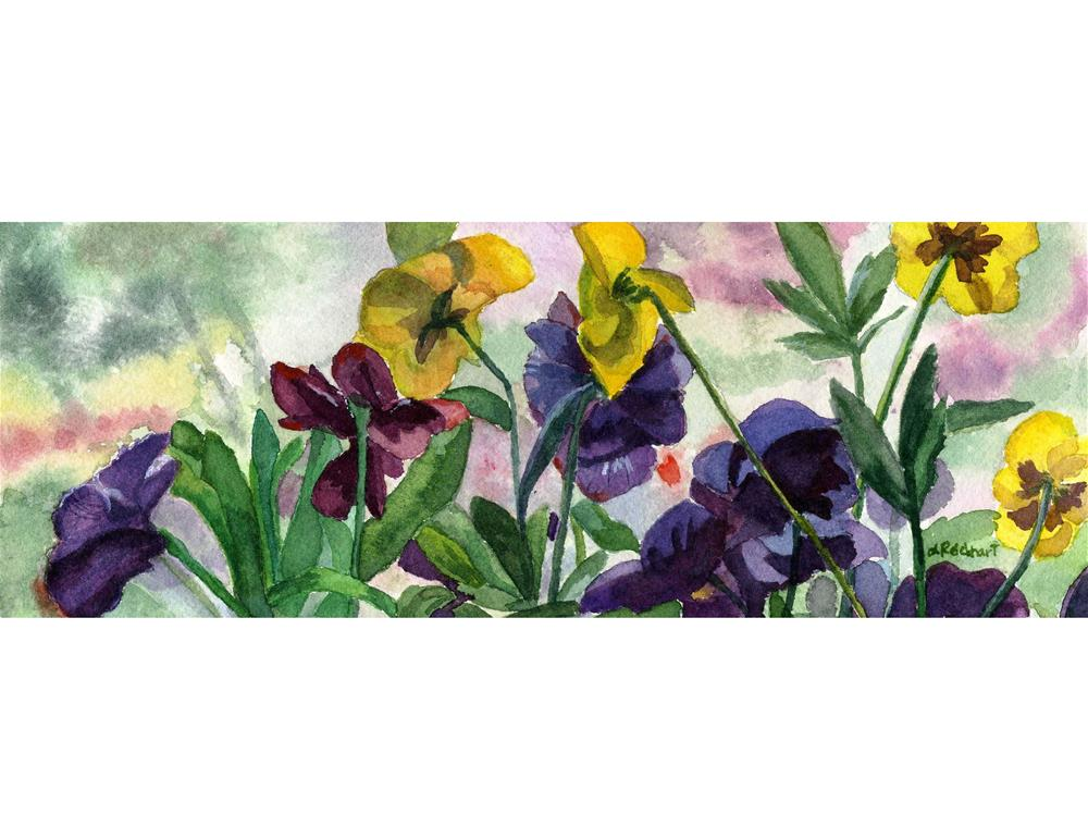 """Pansy Fields"" original fine art by Lynne Reichhart"