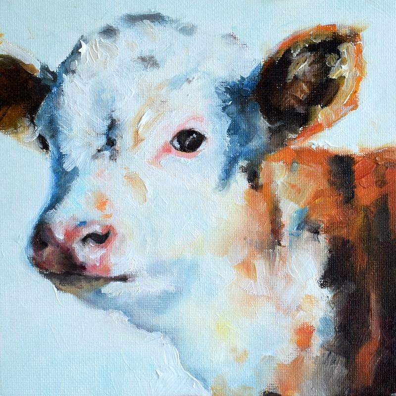 """""""Cow"""" original fine art by Stefan Peters"""