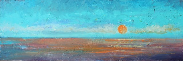 """""""Sunrise, Seascape Paintings by Amy Whitehouse"""" original fine art by Amy Whitehouse"""