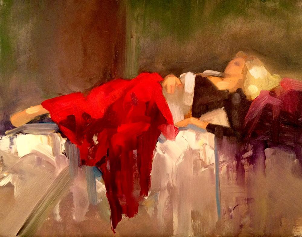 """Repose, 10x8"" original fine art by Ann Feldman"