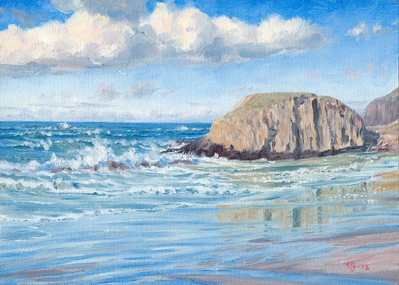 """C1534 Receding Tide at Seal Rock"" original fine art by Steven Thor Johanneson"
