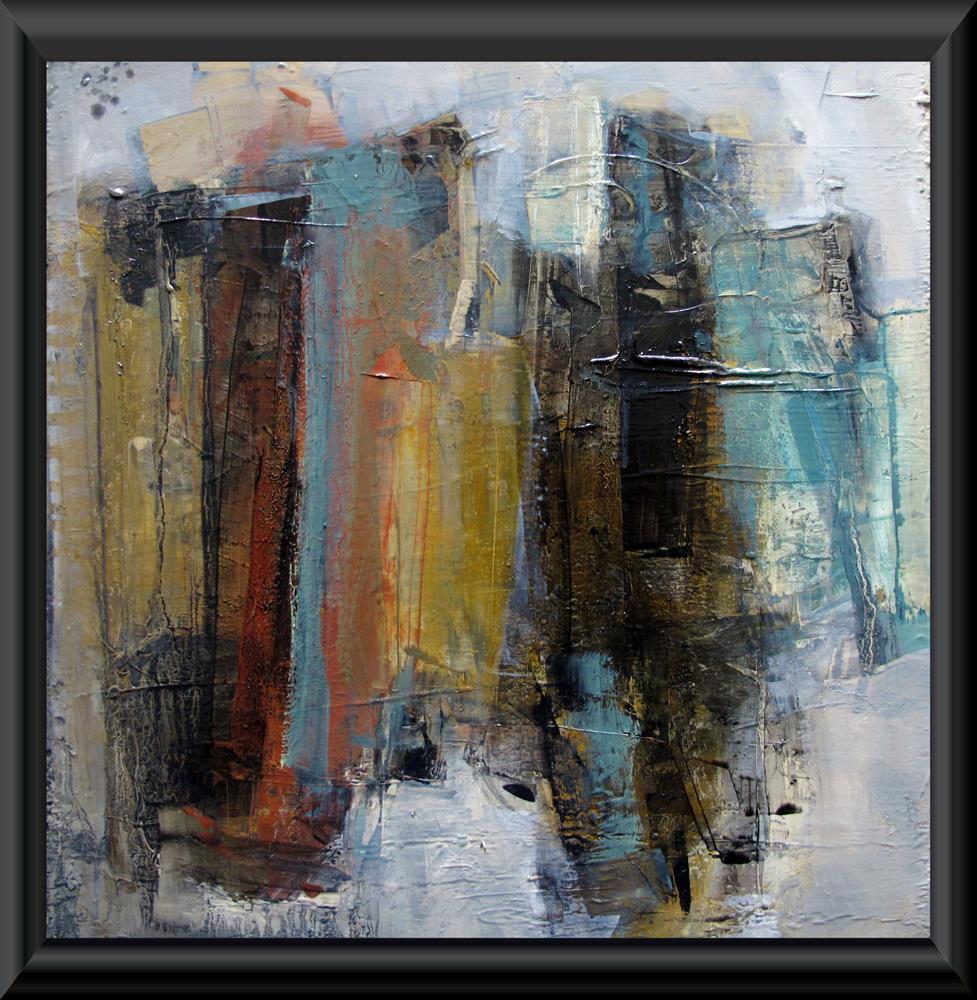 """SYMPHONY ORCHESTRA Original ABSTRACT Art 12X12 Painting OIL"" original fine art by Colette Davis"
