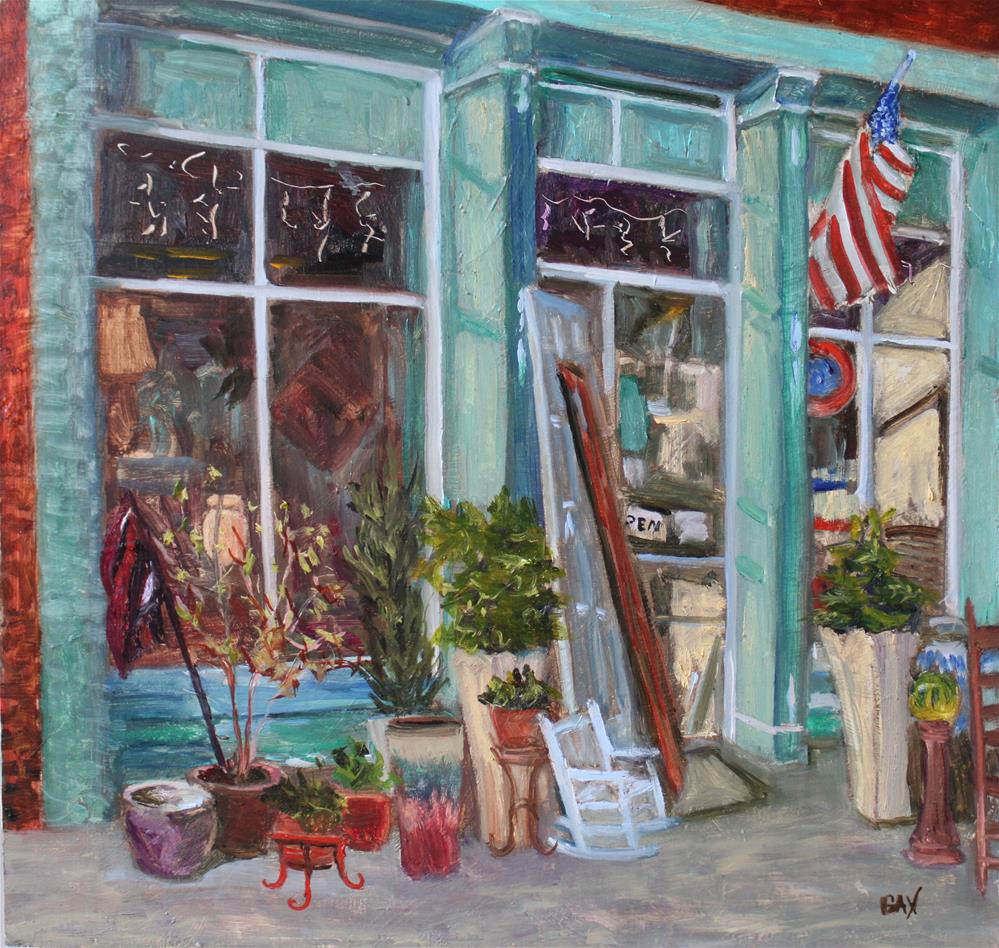 """JUNKIN in RIDGEWAY"" original fine art by barbara yongue"