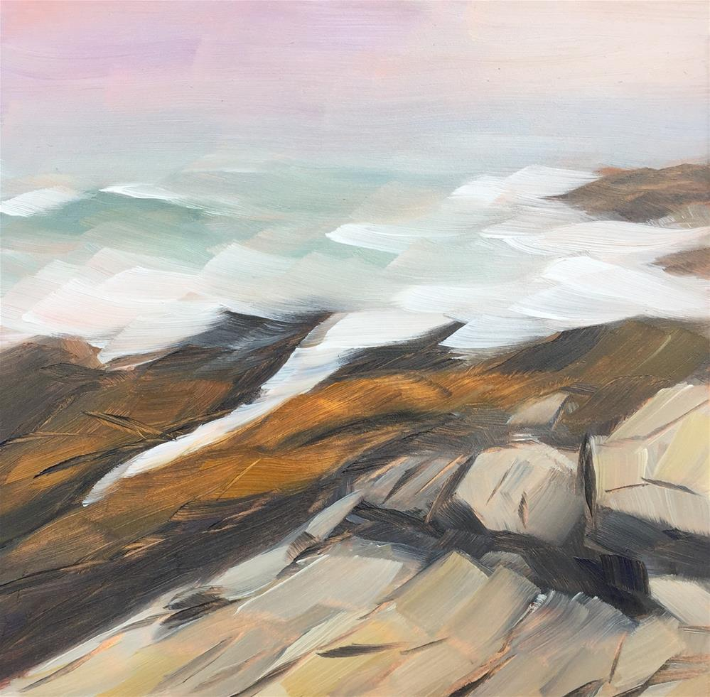 """#12 - Sunset and Fog - Two Lights State Park, ME"" original fine art by Sara Gray"