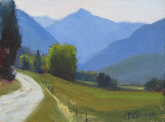 """""""A Cool Day in the Mountains"""" original fine art by Susan McCullough"""