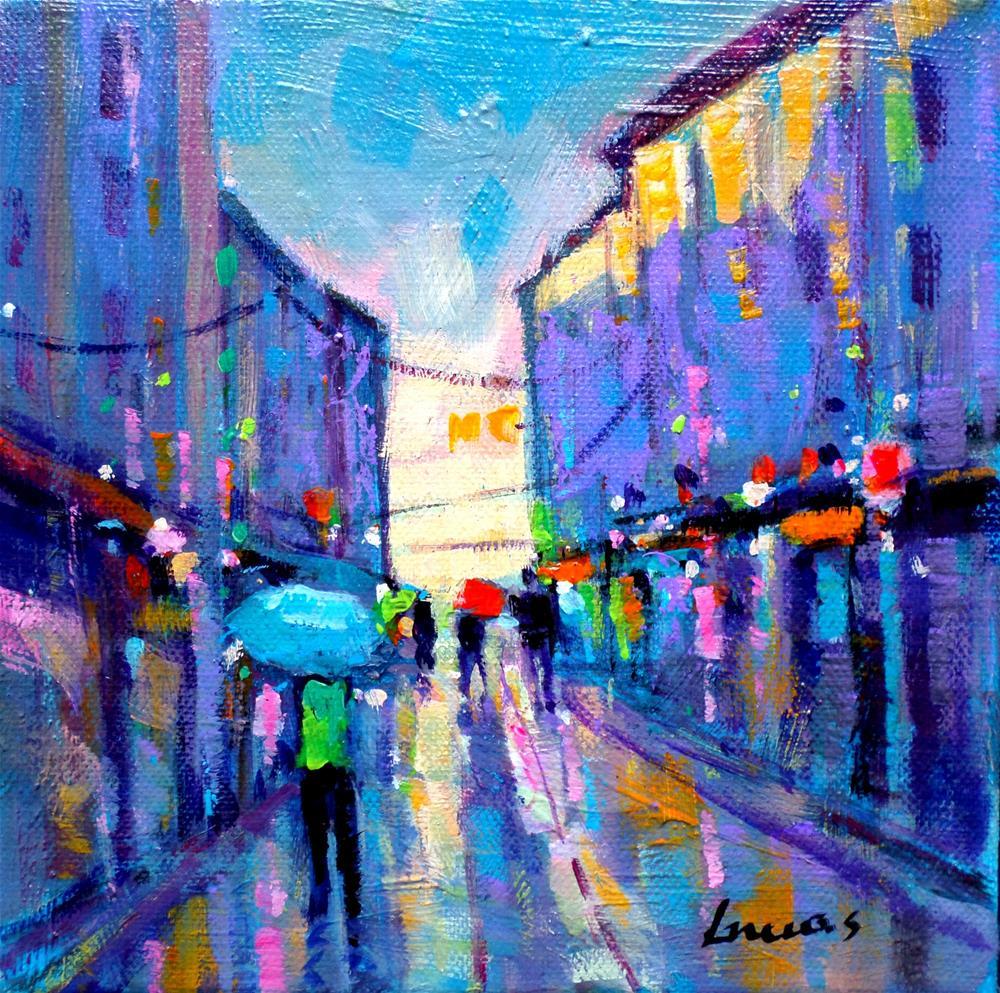 """Alley"" original fine art by salvatore greco"