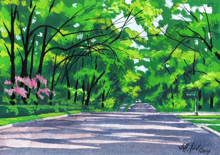 """Down Corsica Street"" original fine art by Jeff Atnip"