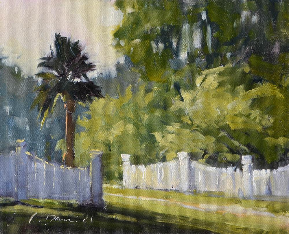 """Sunny Fence Line"" original fine art by Laurel Daniel"