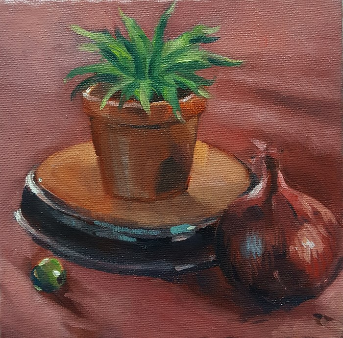 """Red Onions Aren't Actually Red"" original fine art by J M Needham"