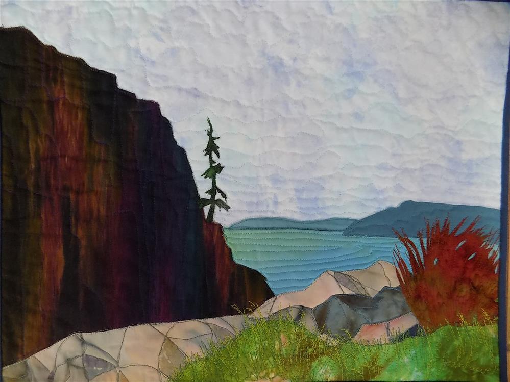 """Hanging On"" original fine art by Joan Reive"