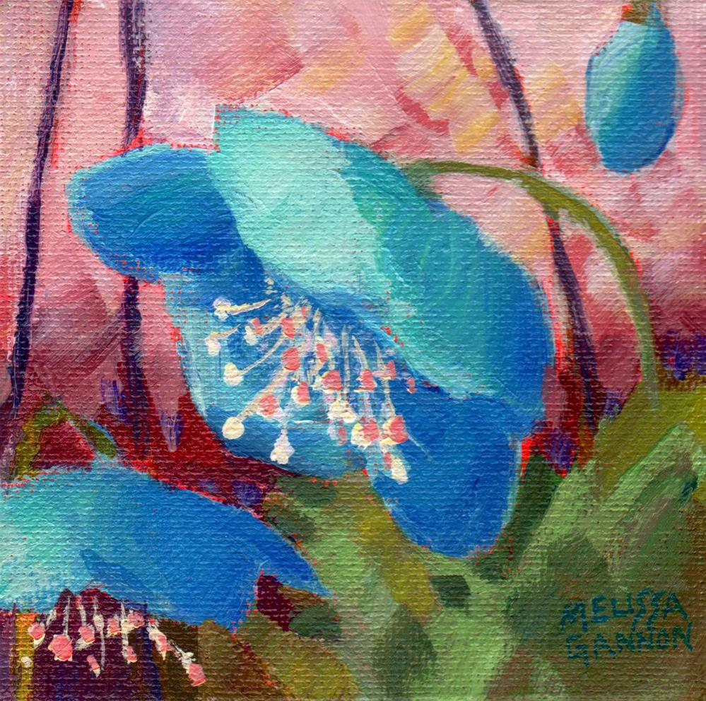 """Hellebore in Blue"" original fine art by Melissa Gannon"