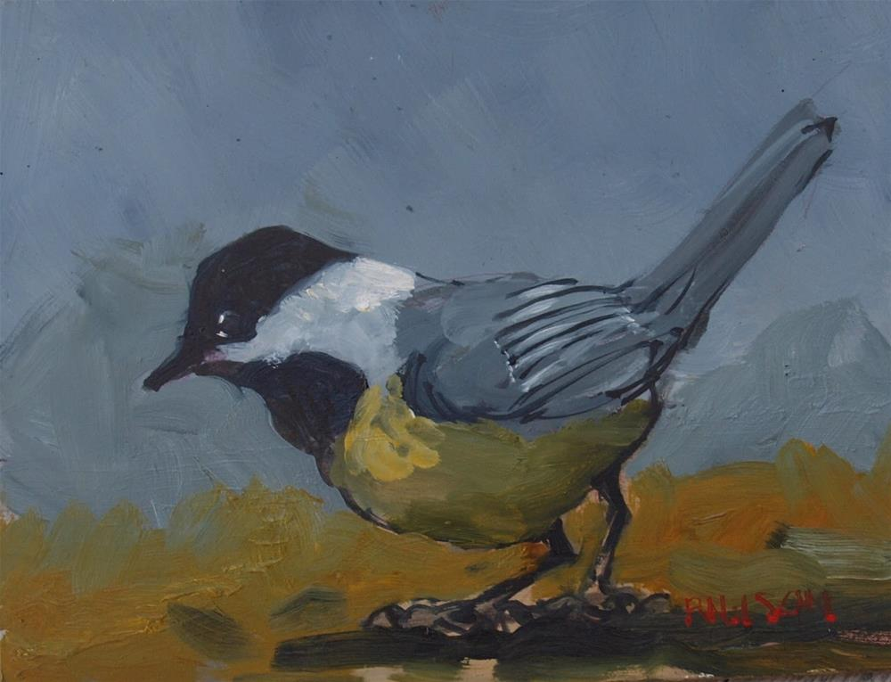 """Chickadee"" original fine art by Rick Nilson"
