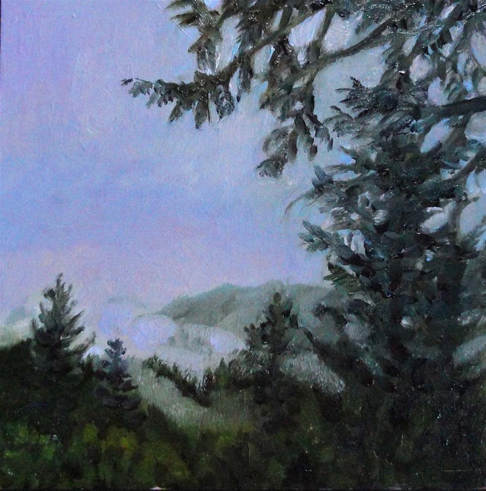 """""""Fog In The Gulch"""" original fine art by Cietha Wilson"""