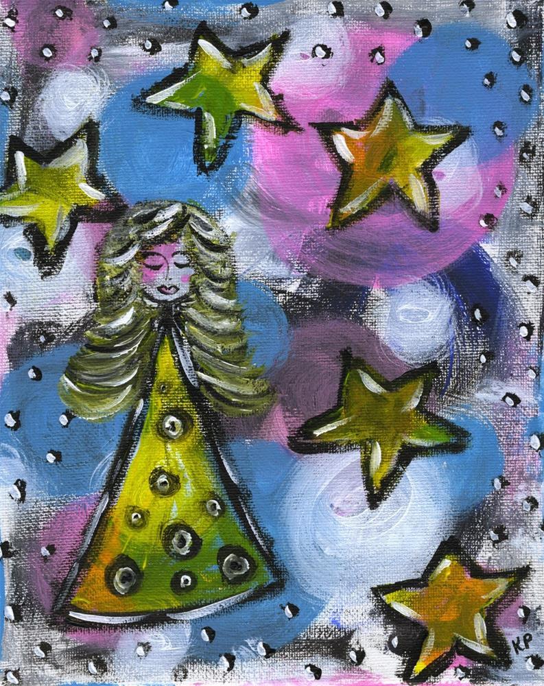 """""""Farrah's Feathers"""" original fine art by Kali Parsons"""