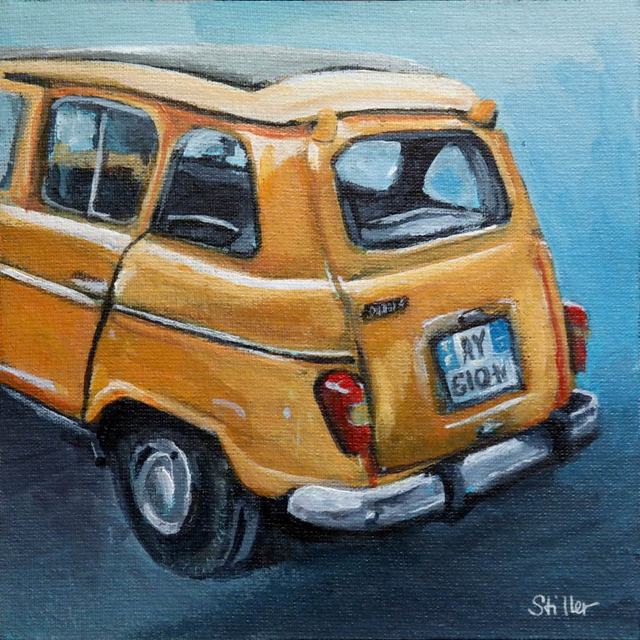 """2263 Renault 4"" original fine art by Dietmar Stiller"