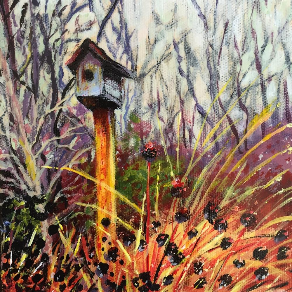 """Garden House"" original fine art by Debbie Yacenda"