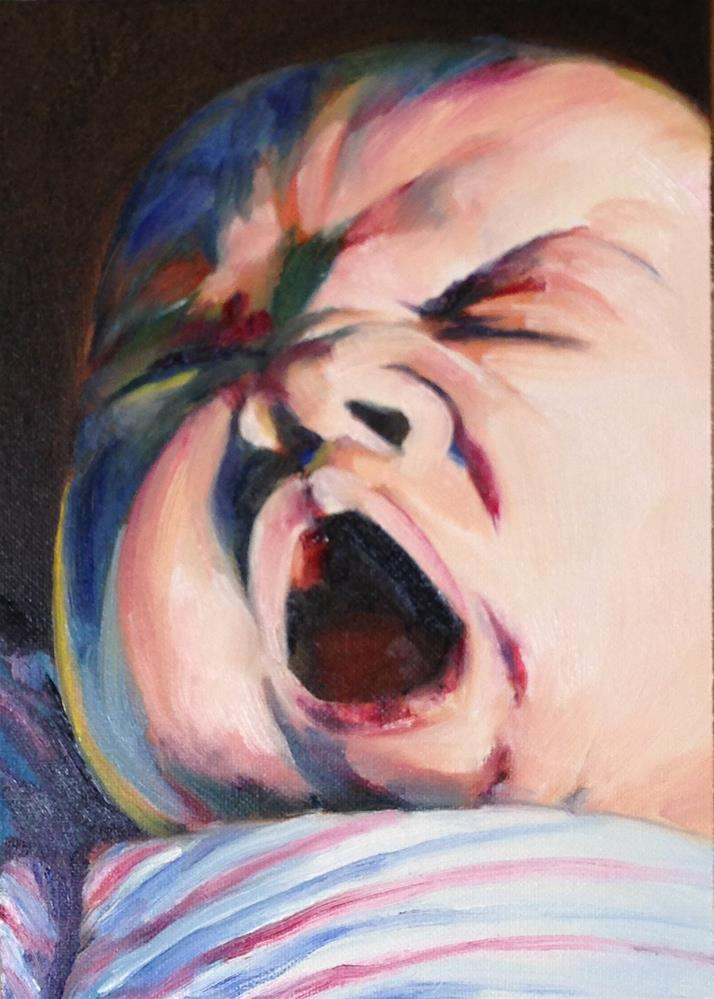 """Baby Face"" original fine art by Linda Lowery"