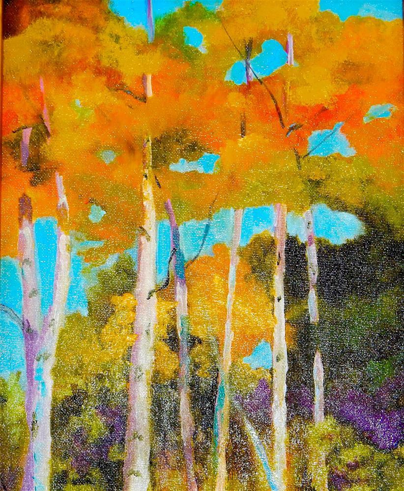 """Cloudcroft Fall"" original fine art by Phyllis Davis"