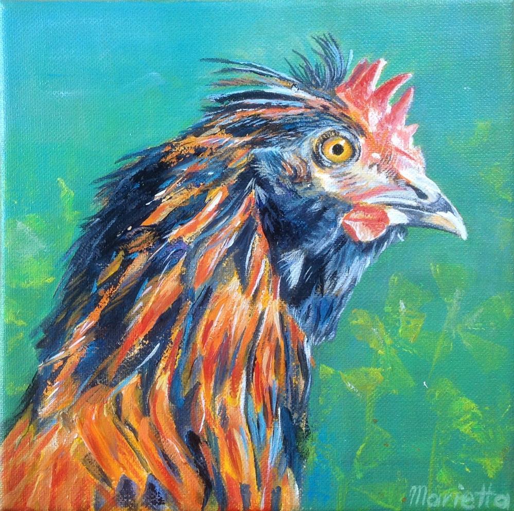 """ Floki "" original fine art by Marietta Modl"