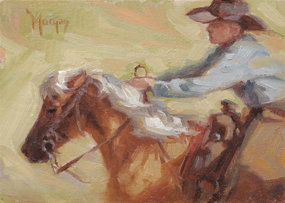 """Running With the Big Boys"" original fine art by Cecile W. Morgan"