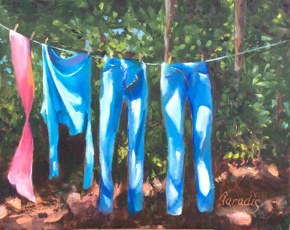 """Light Denim Wash"" original fine art by Rita Paradis"