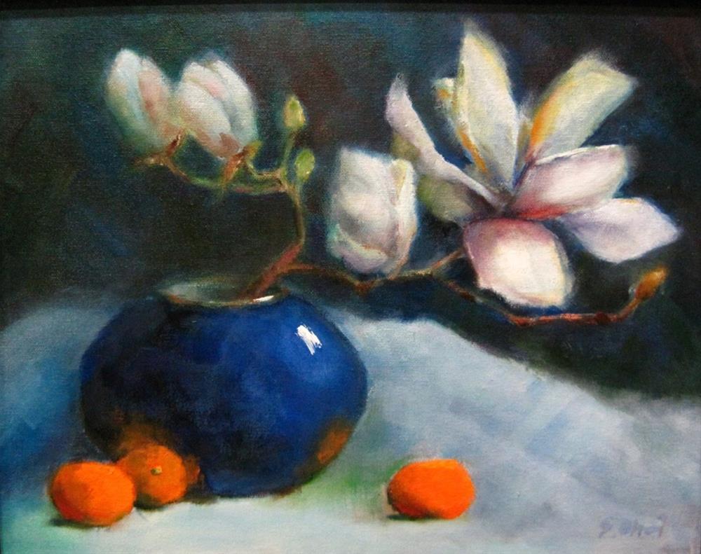 """""""Magnolia blossom"""" original fine art by Sunkyung Choi"""