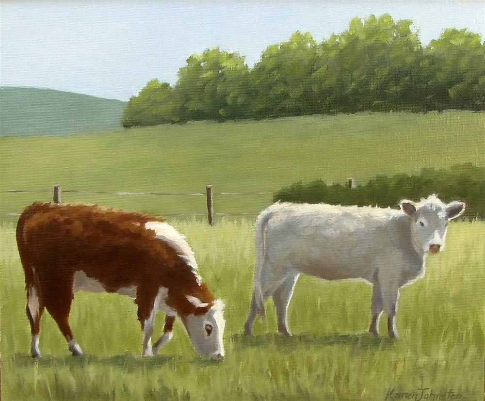 """The Young Ones"" original fine art by Karen Johnston"