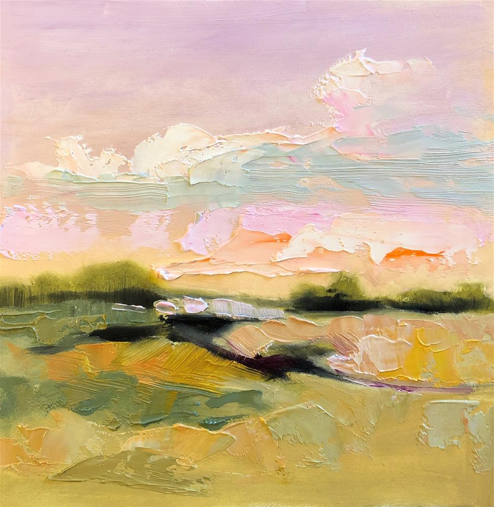 """Impasto Landscape Study 25"" original fine art by Charlotte Fitzgerald"