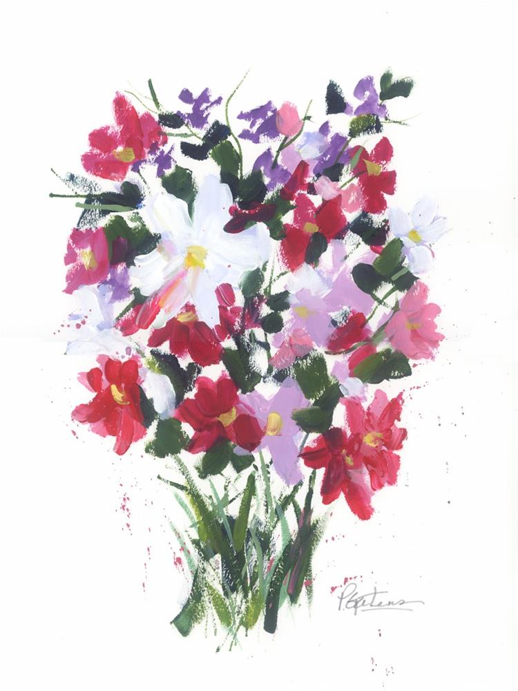 """Cosmos Bouquet"" original fine art by Pamela Gatens"